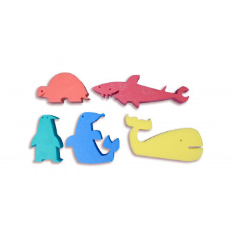 Figuras marinas de foam (5 unidades)