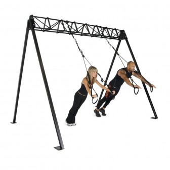 Suspension training rack